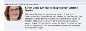 Diakonie-Homepage: Kerstin Griese übernimmt Schlüter-Nachfolge