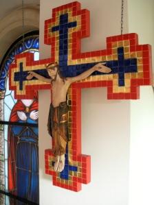 Auferstehungskreuz in der Klosterkapelle des Priorats St.Wigbert in Werningshausen