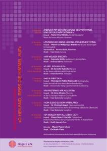 Plakat der Rogate-Adventsreihe 2009